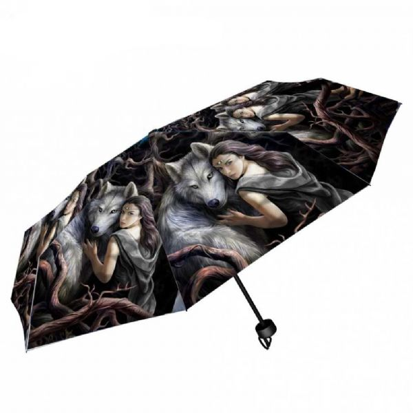 NEMESIS NOW Soul Bond Wolf Umbrella